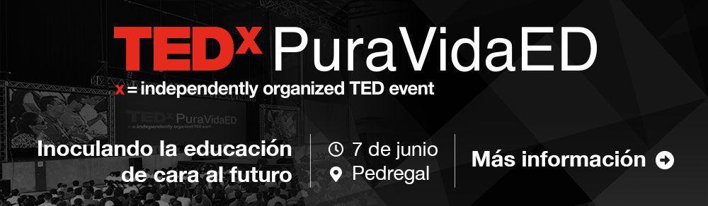 TEDxPuraVida ED 7 de junio en Pedregal